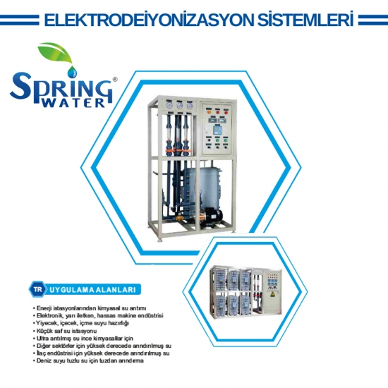 SPRİNG ELEKTRODEİYONİZASYON (EDI) SİSTEMLERİ EDI-P-4000